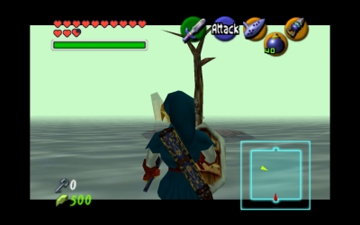 Screen ze hry The Legend of Zelda: Ocarina of Time