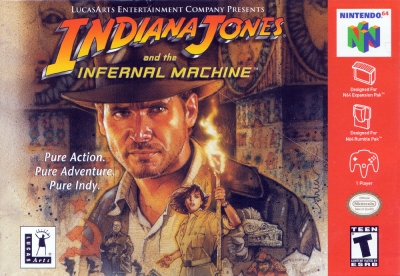 Obal hry Indiana Jones and the Infernal Machine