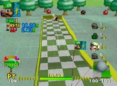 Screen ze hry Mario Golf