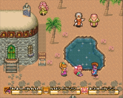 Screen ze hry Secret of Mana