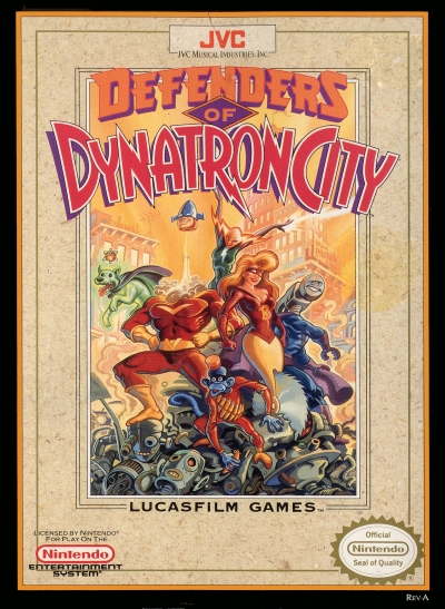 Obal hry Defenders of Dynatron City