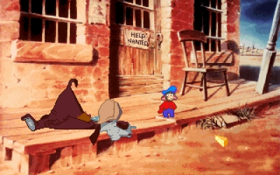 Screen ze hry An American Tail: Fievel Goes West