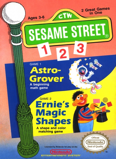 Obal hry Sesame Street 1-2-3