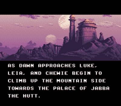 Screen ze hry Super Star Wars: Return of the Jedi