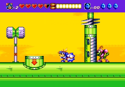 Screen ze hry Sparkster
