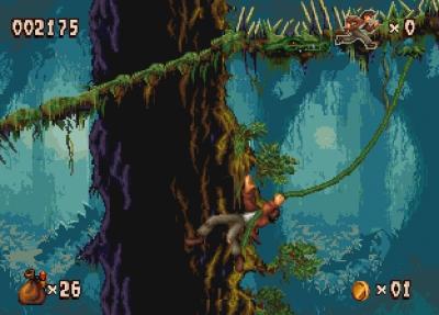 Screen ze hry Pitfall: The Mayan Adventure