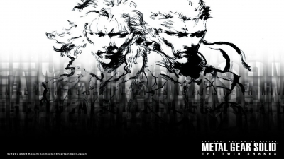Artwork ke hře Metal Gear Solid: The Twin Snakes