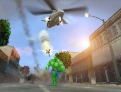 Screen ze hry The Incredible Hulk: Ultimate Destruction