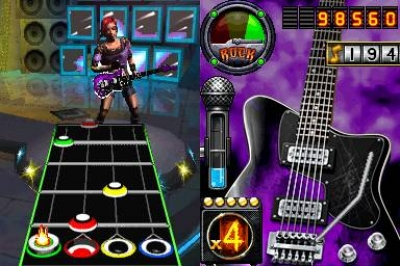 Screen ze hry Guitar Hero On Tour: Decades