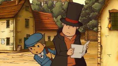 Artwork ke hře Professor Layton and the Curious Village