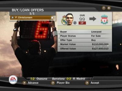 Screen ze hry FIFA Soccer 07