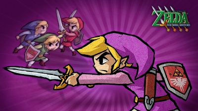 Artwork ke hře The Legend of Zelda: Four Swords Adventures