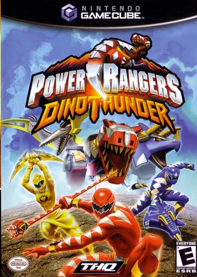 Obal hry Power Rangers Dino Thunder