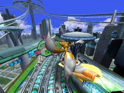 Screen ze hry Sonic Riders