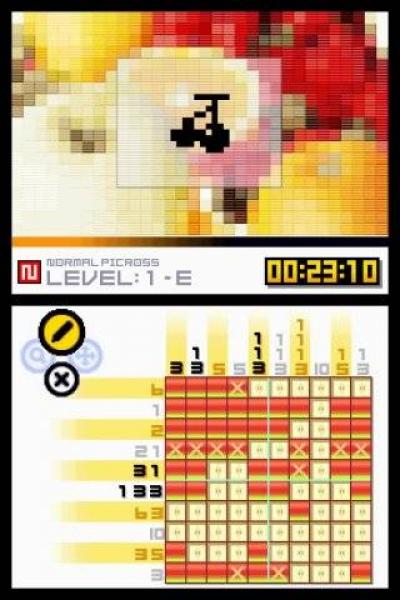 Screen ze hry Picross DS