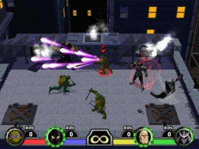 Screen ze hry TMNT: Mutant Melee