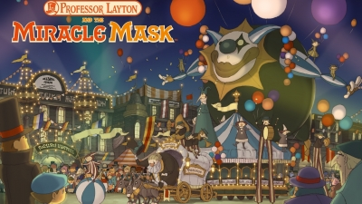 Artwork ke hře Professor Layton and the Miracle Mask