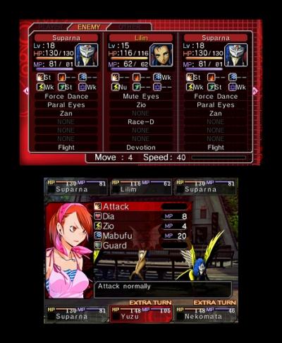 Screen ze hry Shin Megami Tensei: Devil Survivor Overclocked
