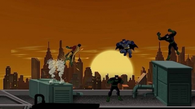 Screen ze hry Batman: The Brave and the Bold: The Videogame