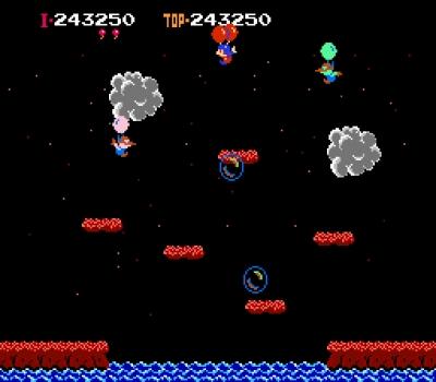 Screen ze hry Balloon Fight