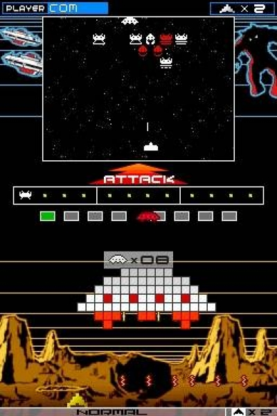 Screen ze hry Space Invaders Extreme 2