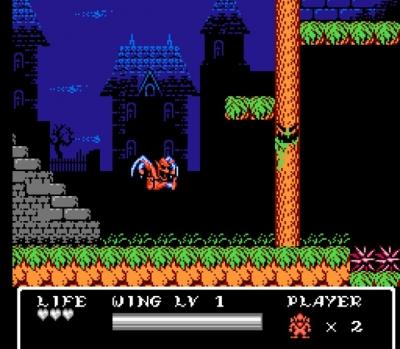 Screen ze hry Gargoyle´s Quest II: The Demon Darkness