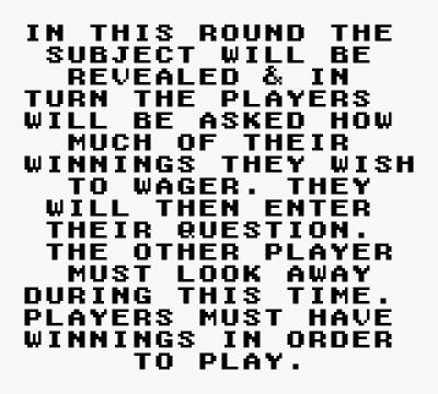 Screen ze hry Jeopardy! Teen Tournament