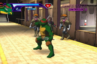 Screen ze hry Teenage Mutant Ninja Turtles