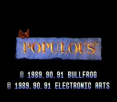 Screen ze hry Populous