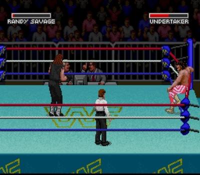 Screen ze hry WWF Super WrestleMania