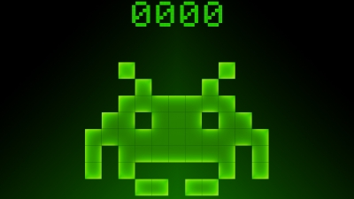 Artwork ke hře Space Invaders
