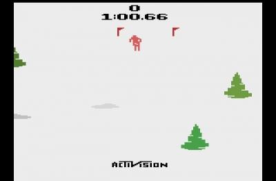 Screen ze hry Skiing