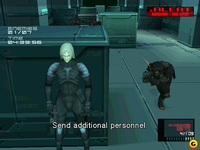 Screen Metal Gear Solid 2: Substance