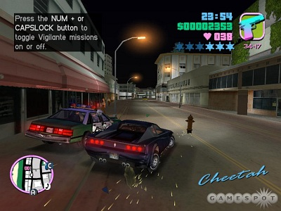Screen Grand Theft Auto: Vice City