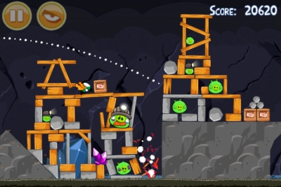 Screen ze hry Angry Birds
