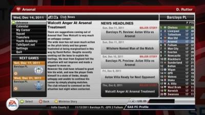 Screen ze hry FIFA 12