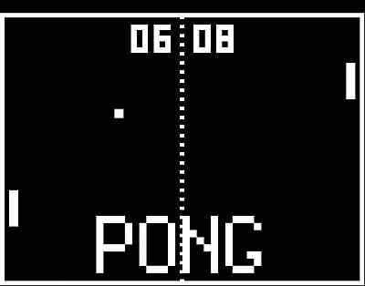 Screen ze hry Pong