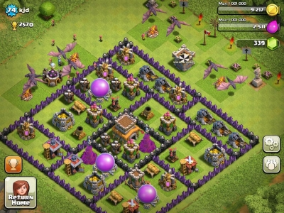 Screen ze hry Clash of Clans