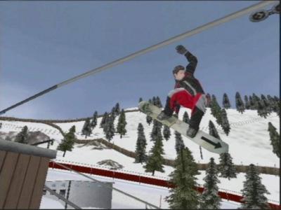 Screen ze hry Shaun Palmer´s Pro Snowboarder