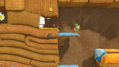 Screen ze hry Yoshi´s Woolly World