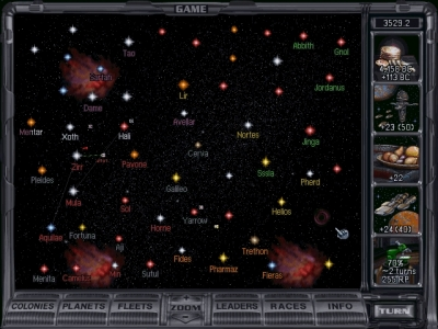 Screen ze hry Master of Orion 2