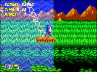 Screen ze hry Sonic the Hedgehog 2