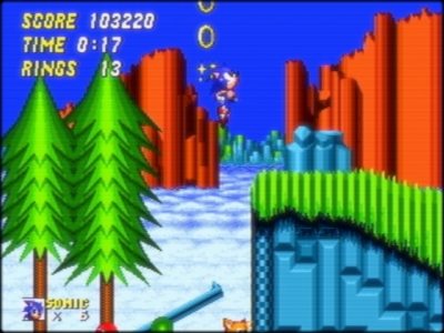 Screen ze hry Sonic the Hedgehog 2