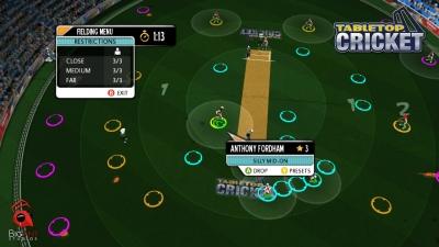 Screen ze hry Tabletop Cricket