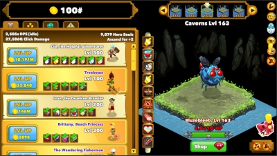 Screen ze hry Clicker Heroes