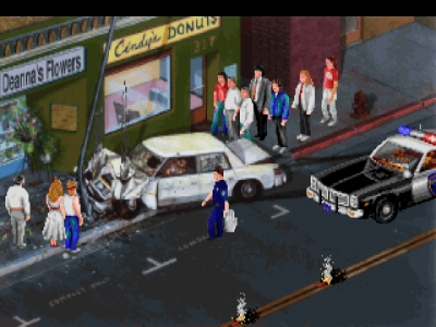 Screen ze hry Police Quest: In Pursuit of the Death Angel
