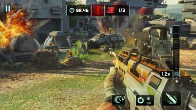 Screen ze hry Sniper Fury