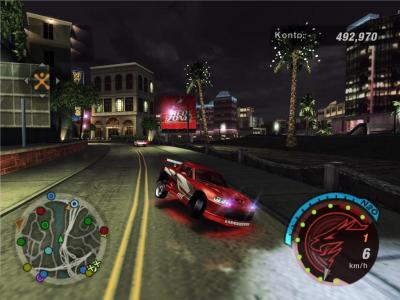 Screen ze hry Need for Speed Underground 2