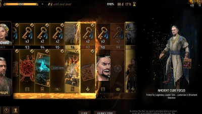 Screen ze hry Gwent: The Witcher Card Game