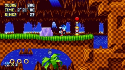Screen ze hry Sonic Mania